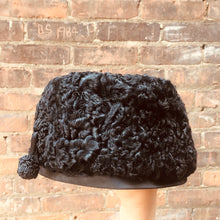 Load image into Gallery viewer, Vintage Black Lambs Wool 1960s Hat