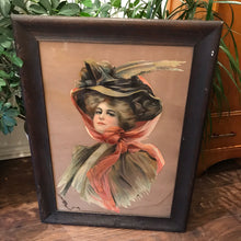 Load image into Gallery viewer, Antique Portrait of Woman in Hat