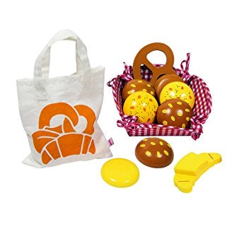 Picnic Basket with Miniature Rolls with Cotton Bag