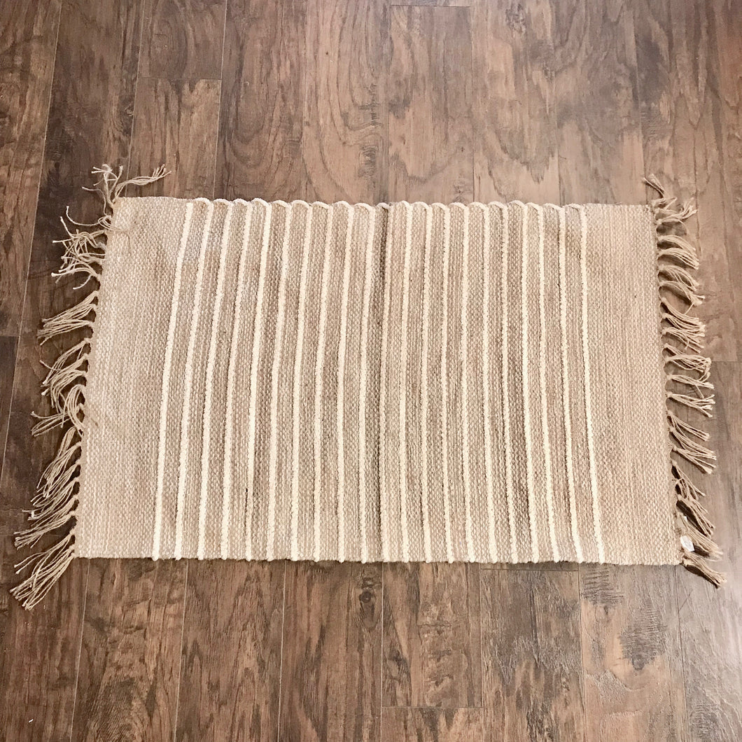 Cotton and Jute Rug Natural (2 x 3')