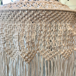 Cotton Hanging Woven Lamp