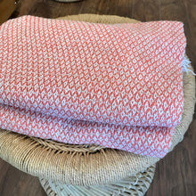 Load image into Gallery viewer, Cotton Handloomed Throw - Rusty Pink