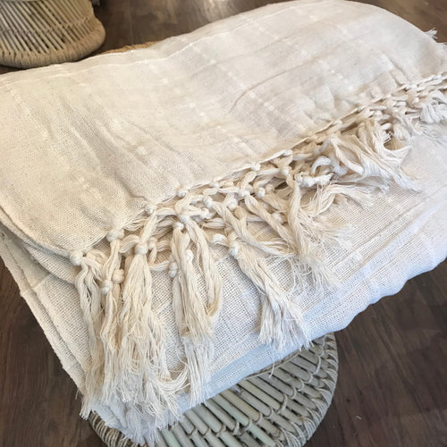 Cotton Handloomed Bed Throw