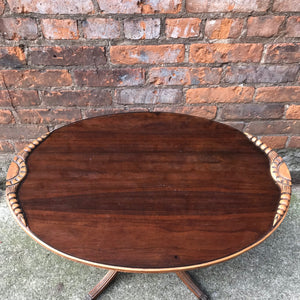 Stunning Antique Duncan Phyfe Style Coffee Table with Glass Top
