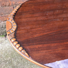 Load image into Gallery viewer, Stunning Antique Duncan Phyfe Style Coffee Table with Glass Top