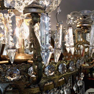 Antique Empire Style Crystal Chandelier