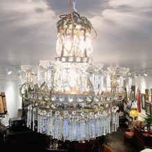 Load image into Gallery viewer, Antique Empire Style Crystal Chandelier