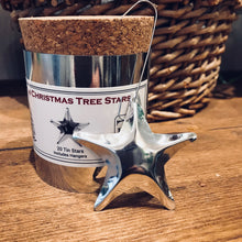 Load image into Gallery viewer, Tin Christmas Tree Star Ornaments