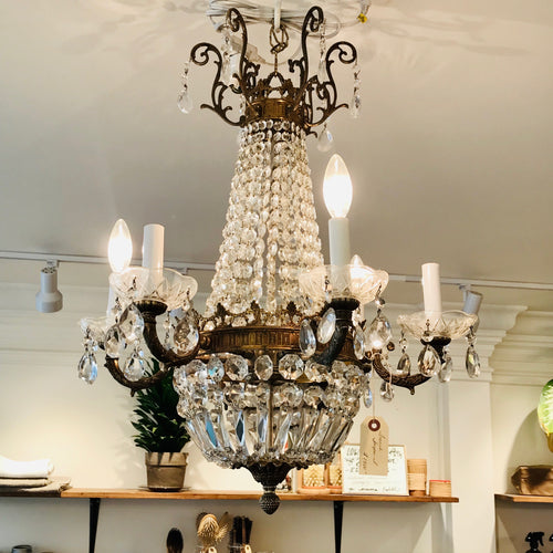 Antique 6 Arm French Empire Chandelier