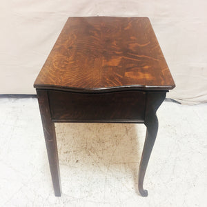 Antique Oak Console Table with Drawers