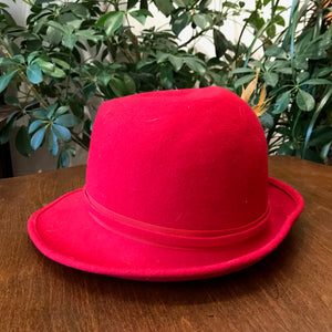 Vintage Red Felted Hat