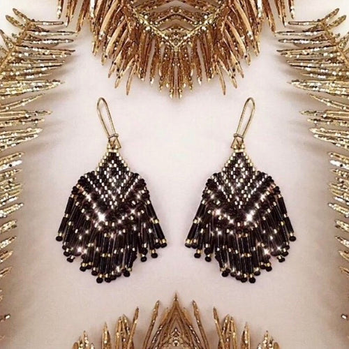 Art Deco Beaded Earrings