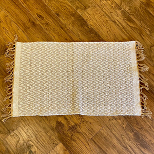 Cotton and Jute Rug Light Grey + White