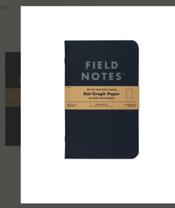 Field Notes: Pitch Black Notebooks (2-pack)