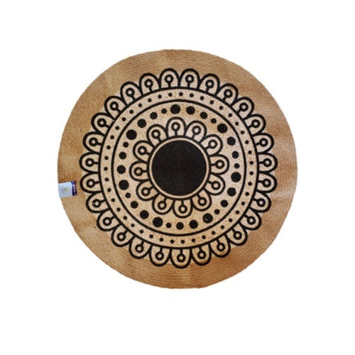 Cotton and Jute Round Rug