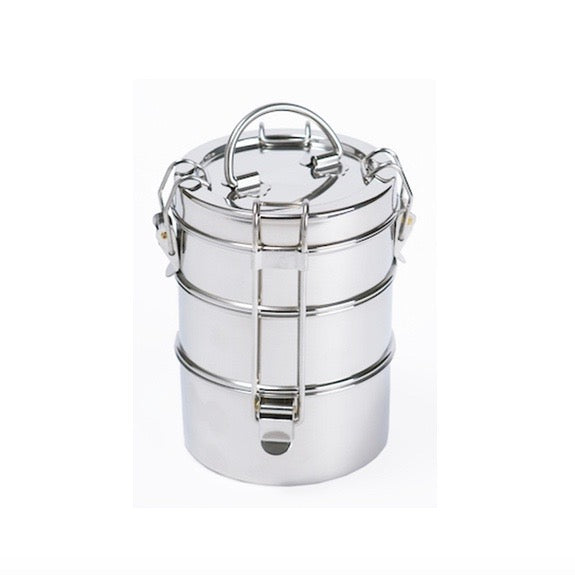 To-Go 3 Tier Stainless Steel Tiffin