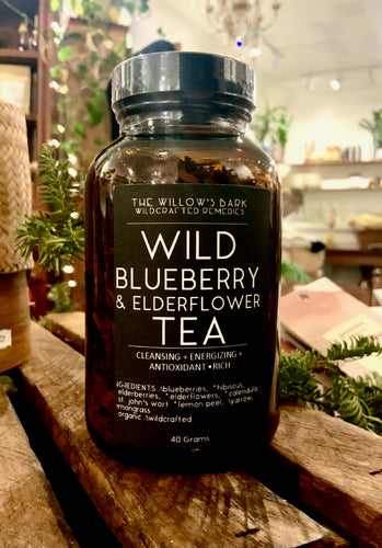 WILD BLUEBERRY + ELDERFLOWER TEA