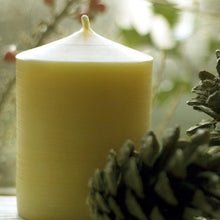 "Load image into Gallery viewer, Wide 3"" Pillar Beeswax Candle"