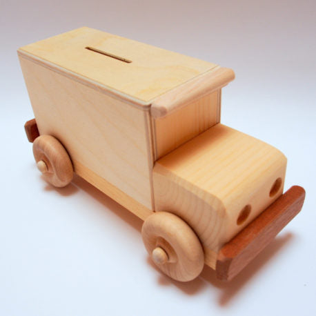 Armoured Car Wood Coin Bank