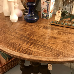 Beautiful Small Table with Oval Top & Elaborate Legs