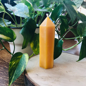 Local Beeswax Candle - Obelisk