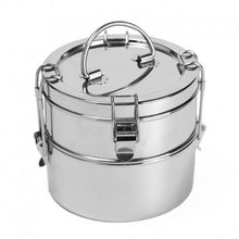 Load image into Gallery viewer, 2 Tier Wide Stainless Steel Food Container