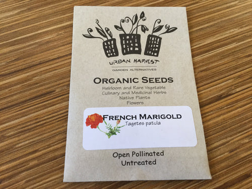 French Marigold organic seeds Urban Harvest