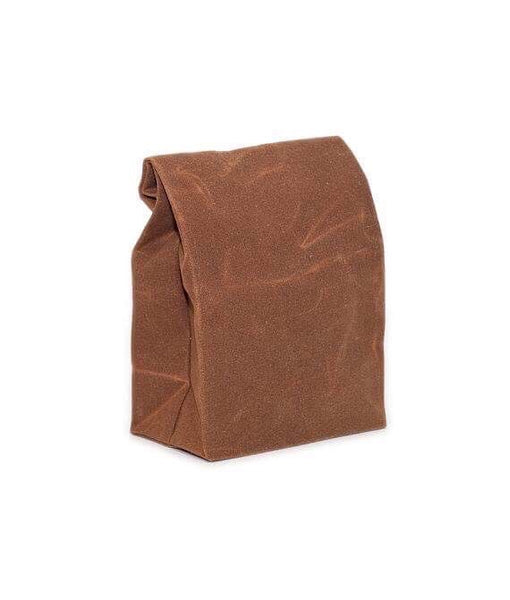 Waxed Canvas Lunch Bag - Brown