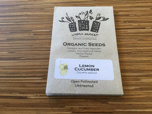 Organic Non-GMO Lemon Cucumber Seeds