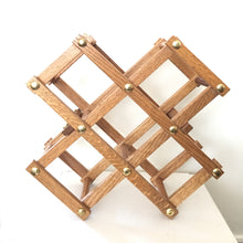 Load image into Gallery viewer, Wood Folding Wine Rack