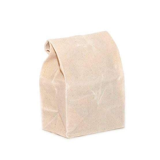 Waxed Canvas Lunch Bag - Natural