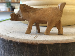 Small Warthog wood hand carved 2""
