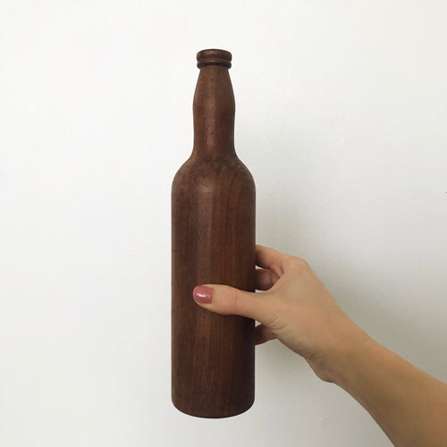 Folk Art Wooden Bottle