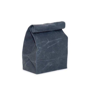 Waxed Canvas Lunch Bag - Charcoal