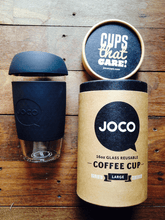Load image into Gallery viewer, Reusable Glass Coffee Tumbler