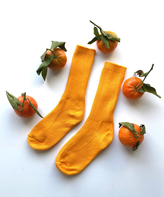 COMING SOON Cotton Socks - Tangerine