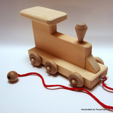 Load image into Gallery viewer, Wood Three Car Train Set