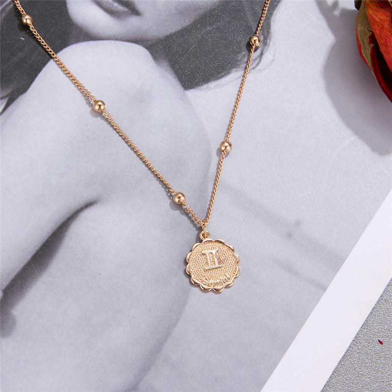 Style: Bohemian Fashion Classic Romantic Gift For: Girlfriend,Wife,Mother,Sister,Women,Girls Suit For: Anniversary, Engagement, Gift, Party, Wedding 2019 New Design: Elegant Star Zodiac Sign 12 Constellation Necklace Necklaces & Pendants: 12 Horoscope Zodiac Sign Gold Pendant Necklace