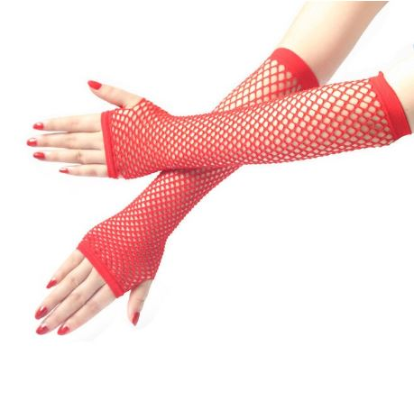 fishnet sleeves