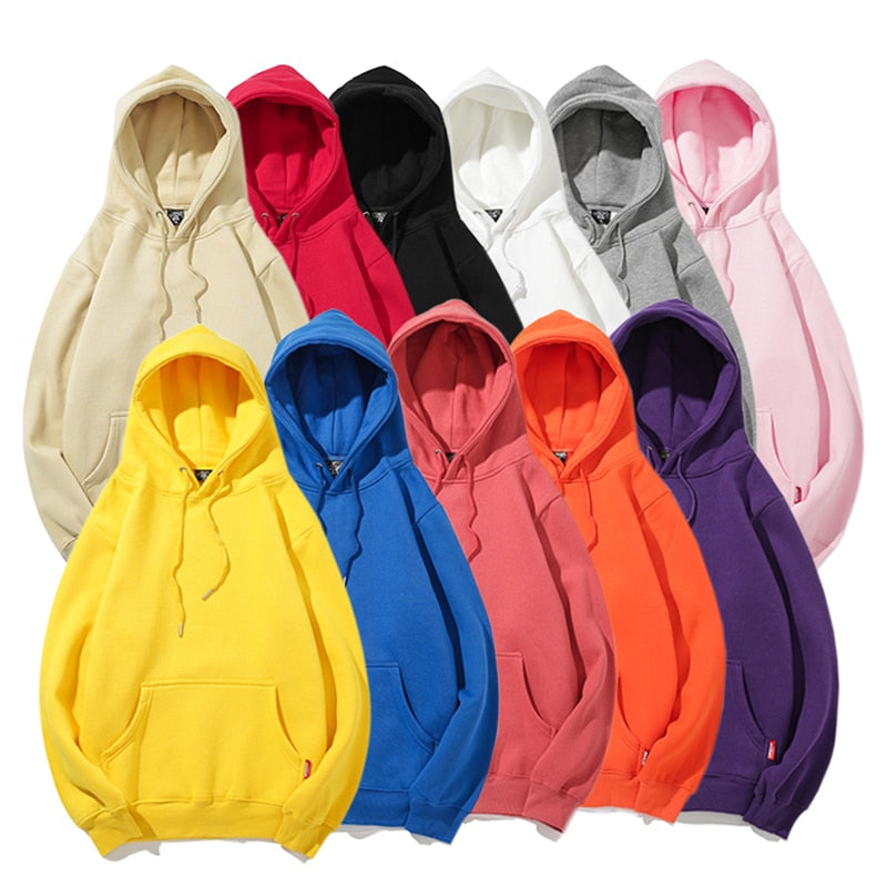 Solid Street Laced Hoodie - Various Colors