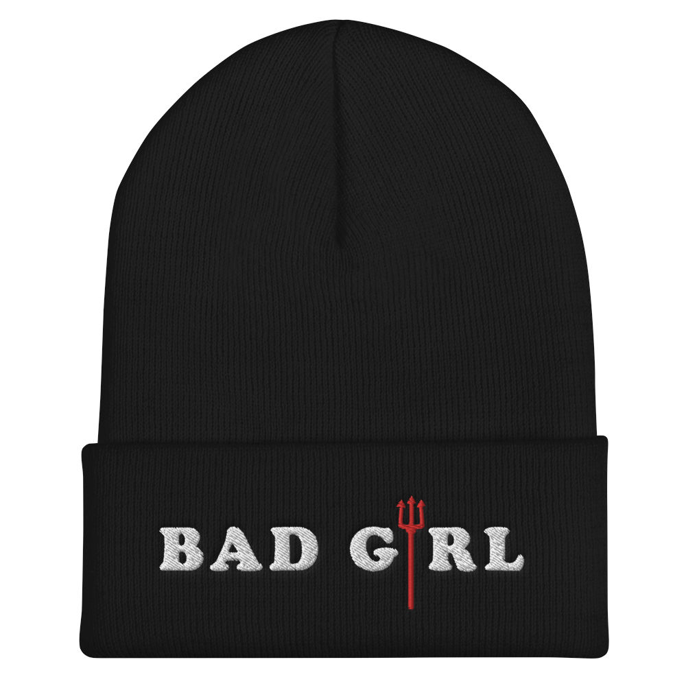 """Bad Girl"" Cuffed Beanie"