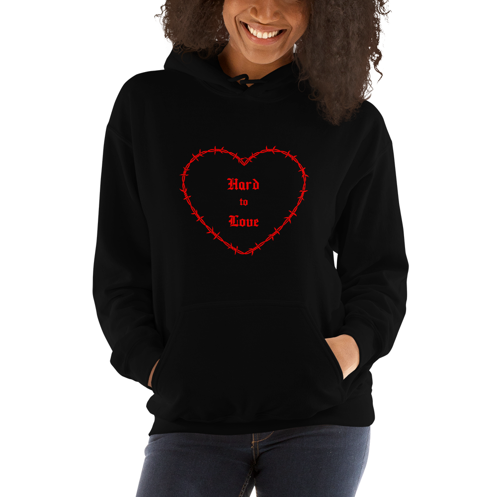 """Hard to Love"" Black Unisex Hoodie"