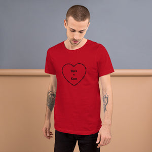 """Hard to Love"" Red Short-Sleeve Unisex T-Shirt"