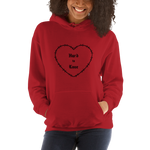 """Hard to Love"" Red Unisex Hoodie"