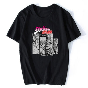 """Jojo's Bizarre Adventure"" Black Short-Sleeve"