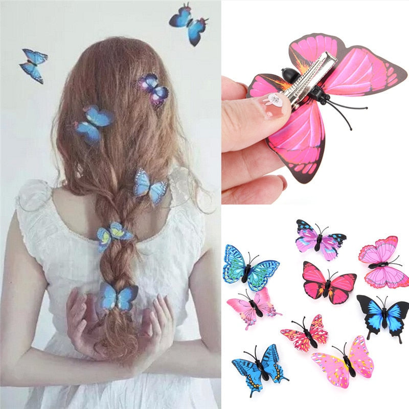 Brand Name: JCSYFAC Size: Butterfly Hair Clips Material: Plastic Model Number: Hair Clips Quantity: 5pcs Item Type: Styling Accessory Unit Type: lot (5 pieces/lot) Package Weight: 0.015kg (0.03lb.) Package Size: 1cm x 1cm x 1cm (0.39in x 0.39in x 0.39in)