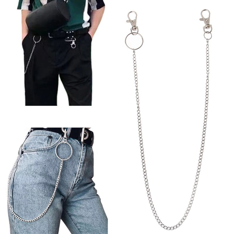 "Brand Name: JAVRICK Metals Type: Zinc Alloy Necklace Type: Chains Necklaces Gender: Men Item Type: Necklaces Pendant Size: 52cm/20"" Fine or Fashion: Fashion Model Number: pants chain Style: TRENDY Chain Type: None Material: Other is_customized: No Shape\pattern: HOOK"