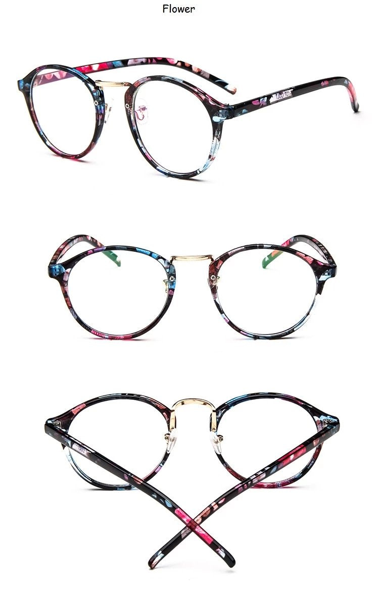 Soft Cat-Eye Glasses - Transparent, Black, Red, Brown