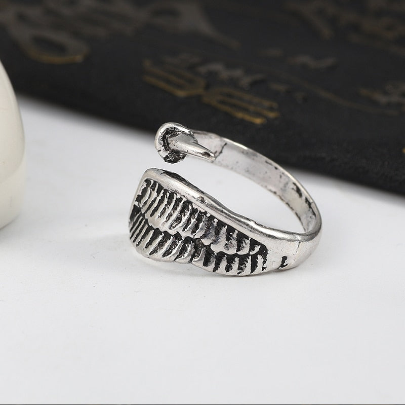 Metal Fallen Wing Unisex Ring