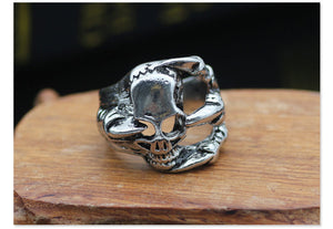 Metal Skelly Claw Ring